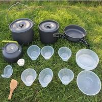 Открытый походный набор горшок портативный набор горшок посуда с чайником Открытый Кемпинг посуда походный Пикник Посуда альпинизмом горш