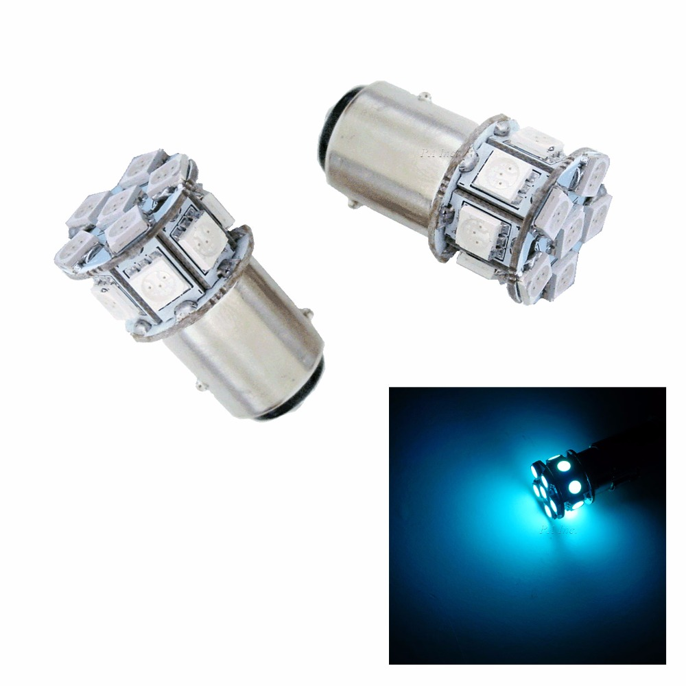 1157 Bay15d Ba15d LED Turn Signal Side Marker Back Up Light Tail Light Bulb 13SMD Ice Blue