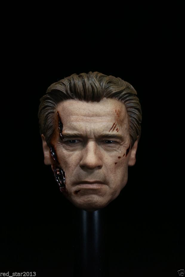 1/6 Scale Arnold Schwarzenegger Battle Damage Male Head Sculpts Model Toys F 12 Figures Body Accessory 1 6 scale male head sculpts model toys downey jr iron man 3 captain america civil war tony with neck sets mk45 model collecti f
