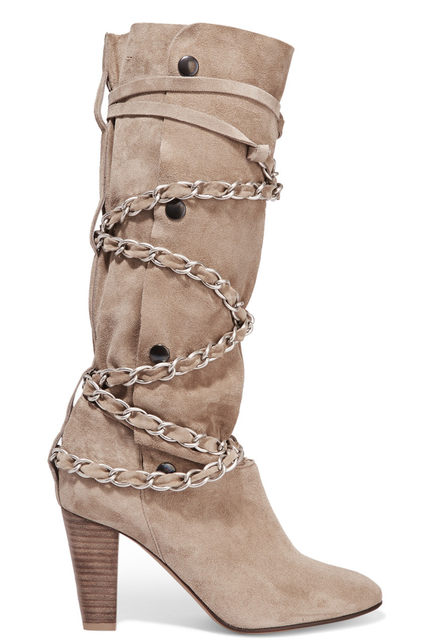 9944e20eeef3 Latest beautiful Trend Mid-calf Boots Chain Decoration High Heel Boots Women  Dress Boots Buy Online Wholesale