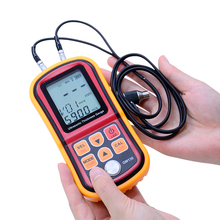 GM130 LCD Digital Ultrasonic Thickness Gauge tester steel thickness tester 1.0 to 300MM Sound Velocity Meter resolution 0.01mm