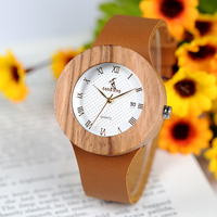 Nuevo BOBO pájaro mujer relojes reloj femenino cuarzo Metal madera reloj con correas de cuero calendario mujer reloj de pulsera logotipo personalizado