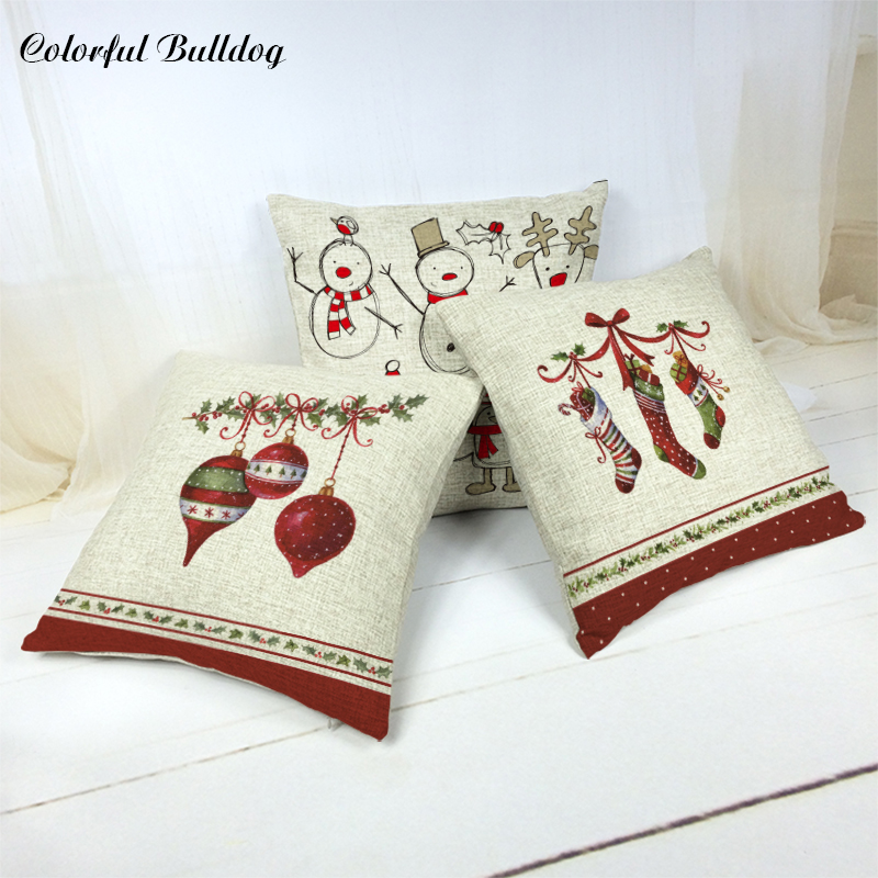 Nordic Style Cushion Cover Bow Tie Bouquet Ice Cream Christmas Tree 17 Music Symbol Sleigh Kussens Woondecoratie Lovely Cojines