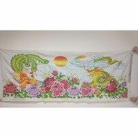 100% ручной вышивки крестом Защита от солнца дракон феникс цветы Облако горы Декор Картины Пряжа для Вышивка иглы искусств Craft Вышивание