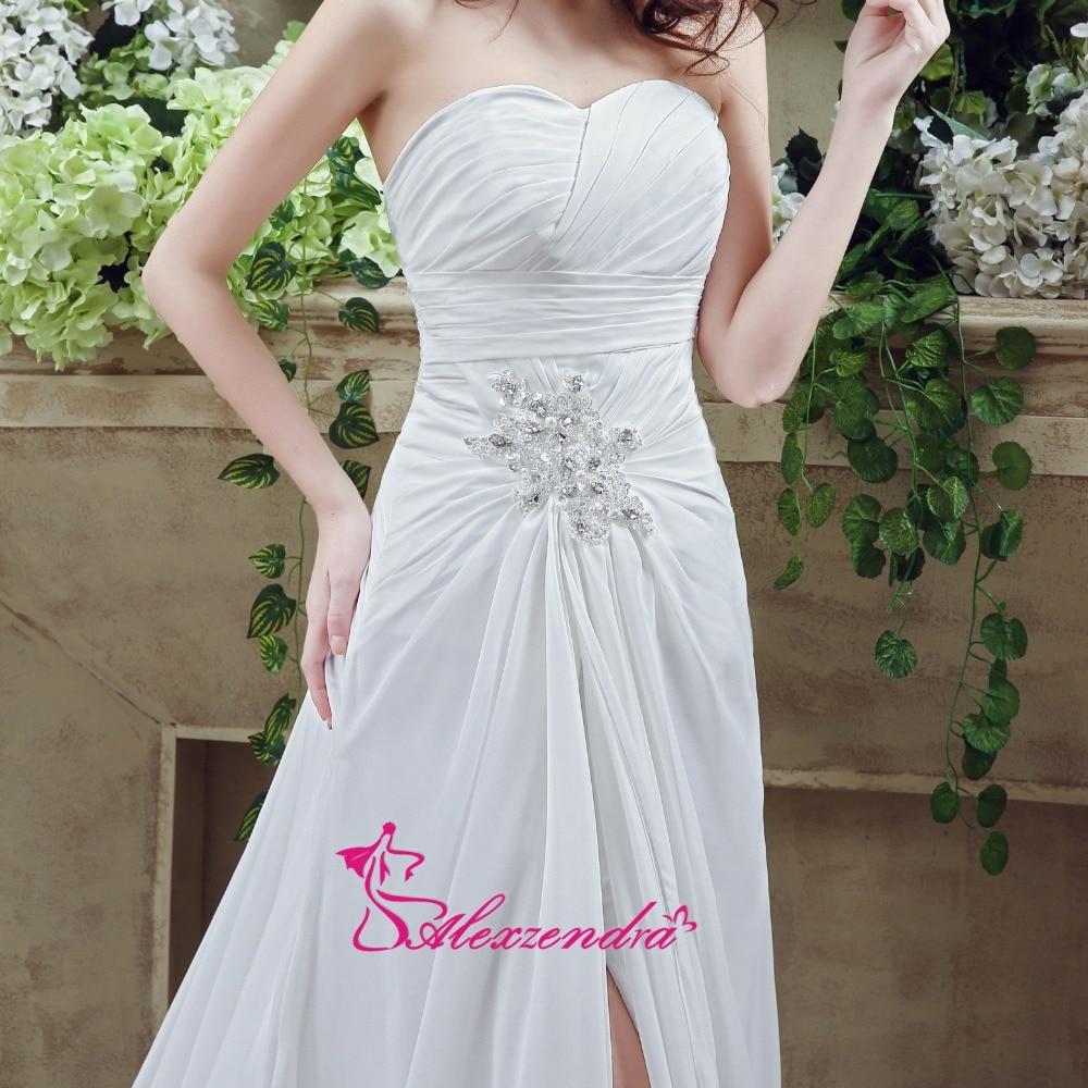 Alexzendra rochii de mireasa rochie de mireasa chiffon plaja cu - Rochii de mireasa - Fotografie 4