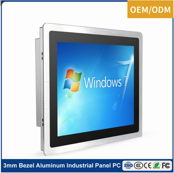 Embedded 15 inch industrial OEM all in one panel pc with 3mm bezel