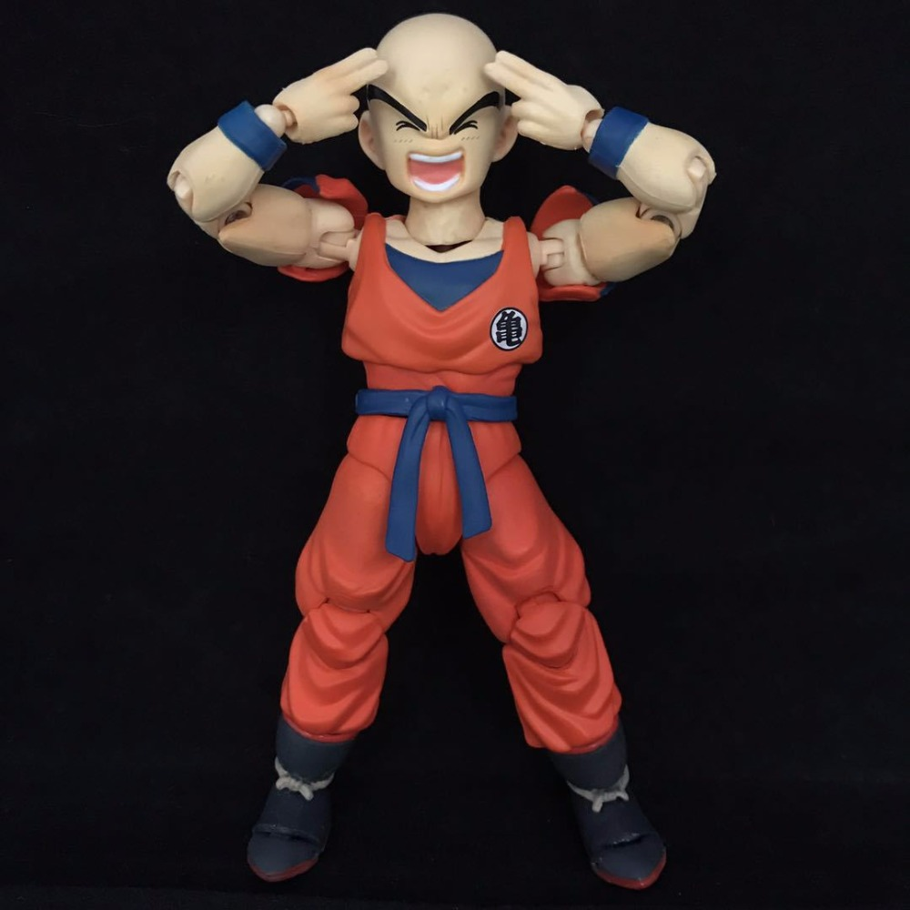 NEW 2018 Boxed Cosplay SHF Dragon Ball Z DBZ KLILYN KURIRIN SHF Movable PVC Action Figure Resin Collection Model Toy Doll Gifts