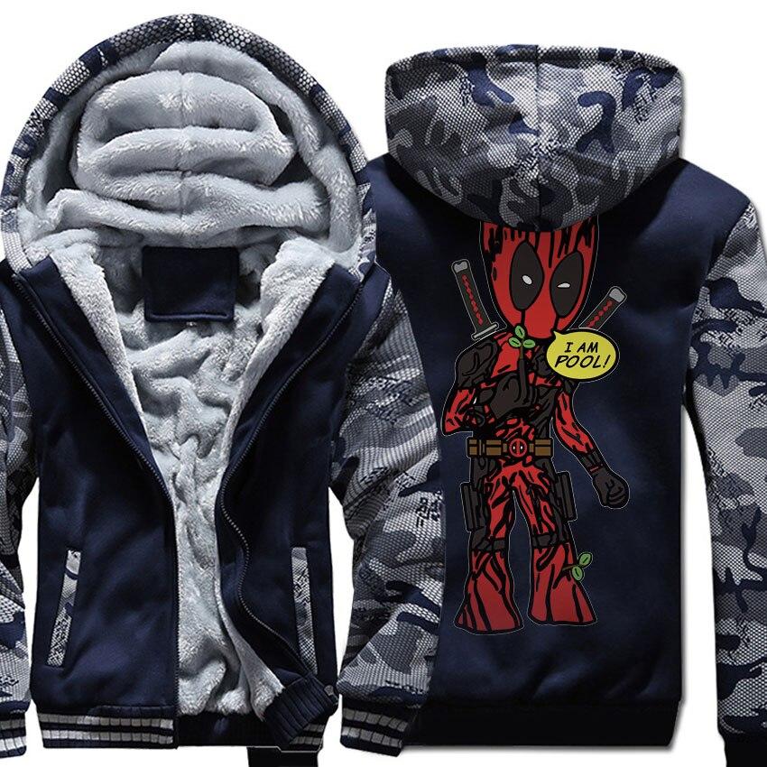 Men's Jacket For Autumn Winter 2018 New Fashion Streetwear Hoody Print DEADPOOL Cartoon I'M GROOT Sweatshirt Men Hoodies Coat