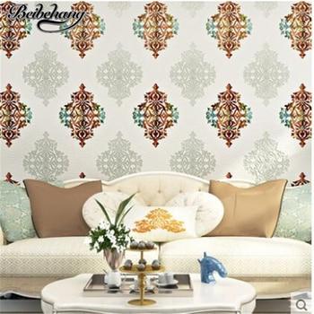 beibehang Continental Damascus 3D Deer Stripe Nonwovens Wallpaper Bedroom Living Room Sofa Background Wallpaper papel de parede