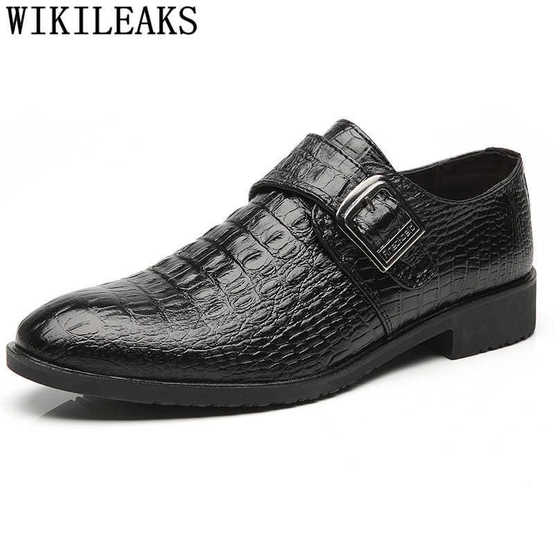 Итальянская обувь из крокодиловой кожи; Мужская официальная обувь; Кожаные Туфли-оксфорды на ремешке; мужские лоферы; sapato social masculino zapatilla hombre