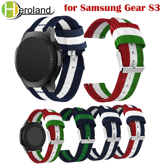 22mm nylon Strap for Samsung Gear S3 Frontier/S3 Classic Watchbands Replacement