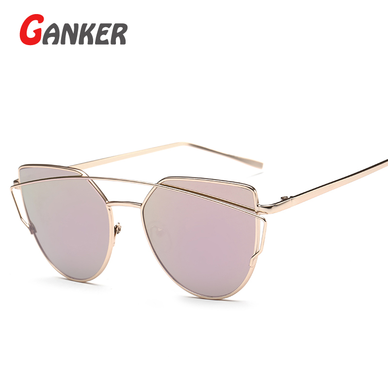 2016 New GANKER Fashion Women font b Sunglasses b font Metal Frame Multi Color Sun Glasses
