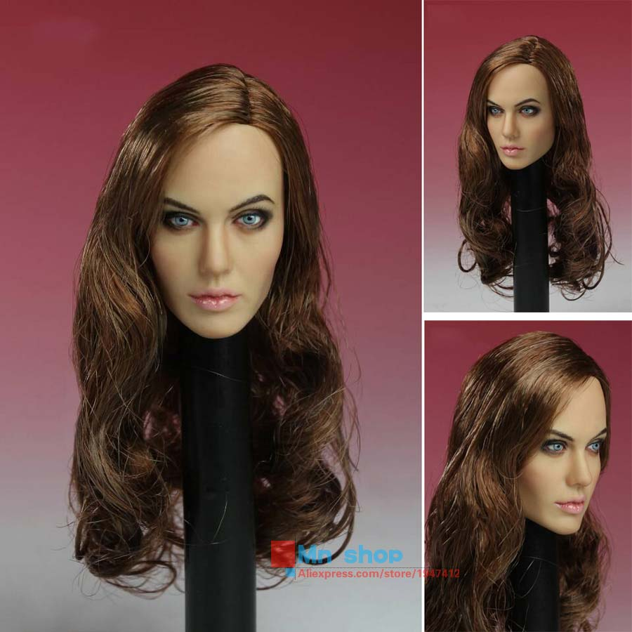 CGL T-10 1/6 Scale Head Sculpt Angelina Jolie Head Carving Model Fit 12