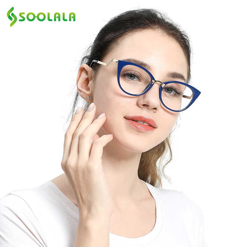 a3703de9a508 ... SOOLALA Cateye Men Women Reading Glasses Unique Ladder Arm Cat Eye  Presbyopia Hyperopia Reader Eyeglasses + ...