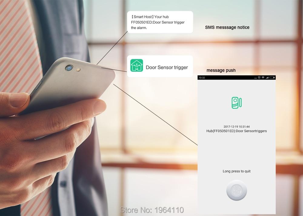 Super Mini WIFI Home Security Alarm System DIY Kit IOSAndroid Smart Phone App PIR Main Panel DoorWindow Sensor Burglar Alarm_F2