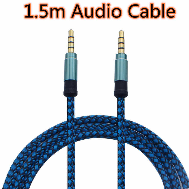 1.5m Jack Cable Audio Cable Jack 3.5mm AUX Cable Earphone Audio Adapter for Car MP3 MP4 Headphone Aux Line for Samsung Huawei