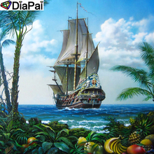 DiaPai Diamond Painting 5D DIY 100% Full Square/Round Drill Boat scenery Embroidery Cross Stitch 3D Decor A24795
