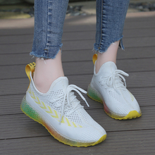 X Brand Women Sneakers Summer White Flyknit Breathable Fashion Colorful Chunky Sole Shoes Trainers Casual zapatillas mujer