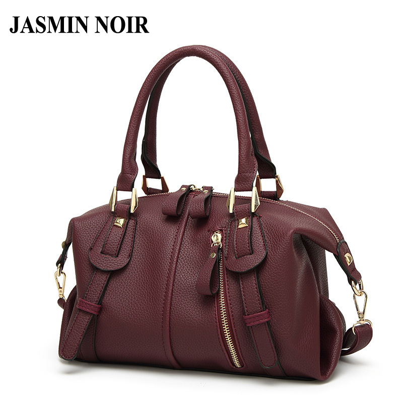 2017 New Fashion Winter Bag Boston Pu Leather Women Tote Bag High Quality Female Handbag Brand Ladies Classic Shoulder Bag