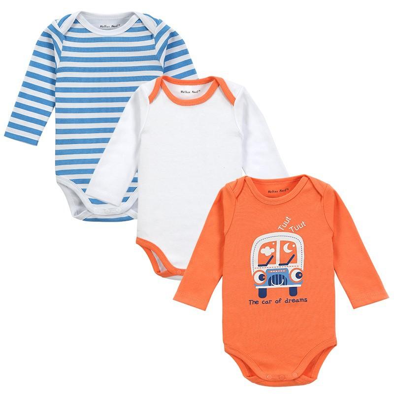 3 Pieceslot Newborn Baby Clothing Carters Baby Girl Boy Next Vestidos Infantis Body Long Sleeve Super Soft Baby Romper-2