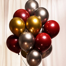 50pcs 12inch Metal Balloon Thick Latex Balloons Wedding Decoration Metallic Pearly Birthday Party decor