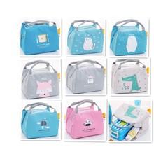 New Insulation Oxford Lunch Bag Waterproof Thermal Food Storage Cooler Picnic Cute Cartoon Cat Tote Box Handbag