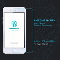 10pcs/lot Wholesale NILLKIN Amazing H+PRO Tempered Glass phone Screen Protector Film For Apple iphone 7/iphone 7 plus Glass Flim