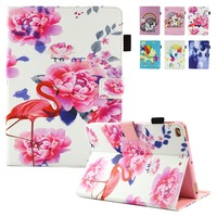 For New IPad 2017 Case 2017 Hot Sale Floral Folio Book Auto Sleep Wake Up Kickstand