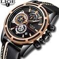 Мужские кварцевые аналоговые часы Relojes para hombres  новые модные часы из искусственной кожи в новом дизайне  повседневные стильные Брендовые Час...