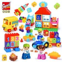 GOROCK 6 Style Big Blocks Fruit and Vegetable Trucks Large Building Blocks Set Kids DIY Creative Baby Toy Compatible With Duploe