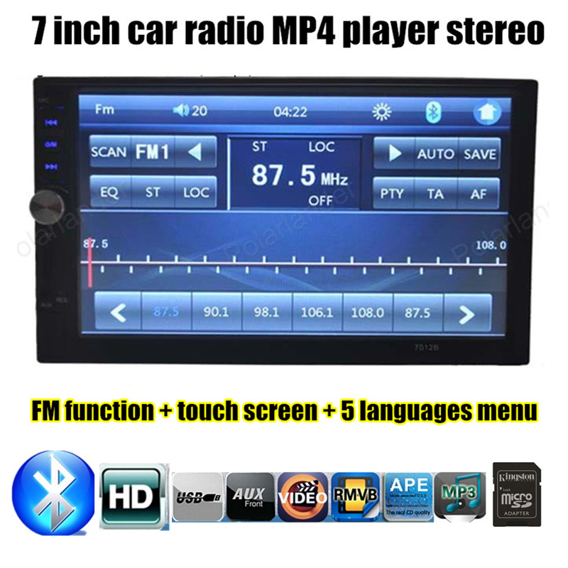 Universal 2 Din Size Auxin 7 Inch Touch Screen Car Radio