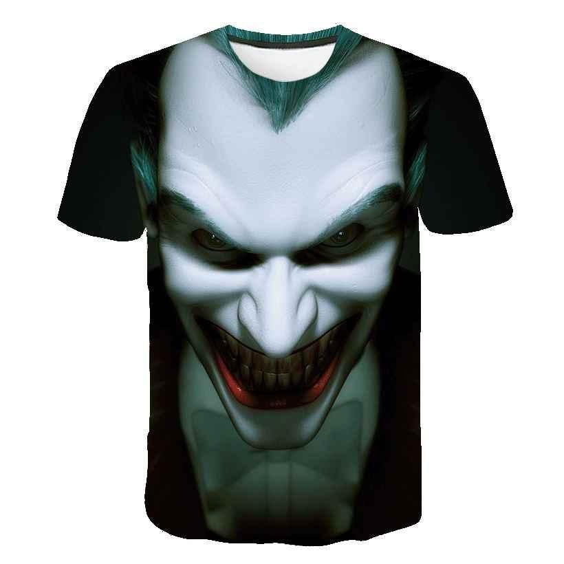 Мужская футболка с 3D-принтом «Темный рыцарь», повседневная мужская футболка с круглым вырезом и принтом «Джокер»