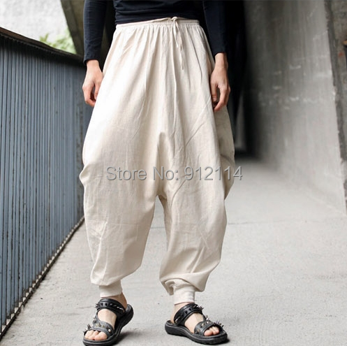2014 new Retro Casual Cool harem pants men loose low drop crotch ...