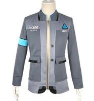Game Detroit: Become Human Connor Cosplay Costume RK800 Agent Suit Halloween Carnival Uniforms Men's Formal Coat Tie Custom