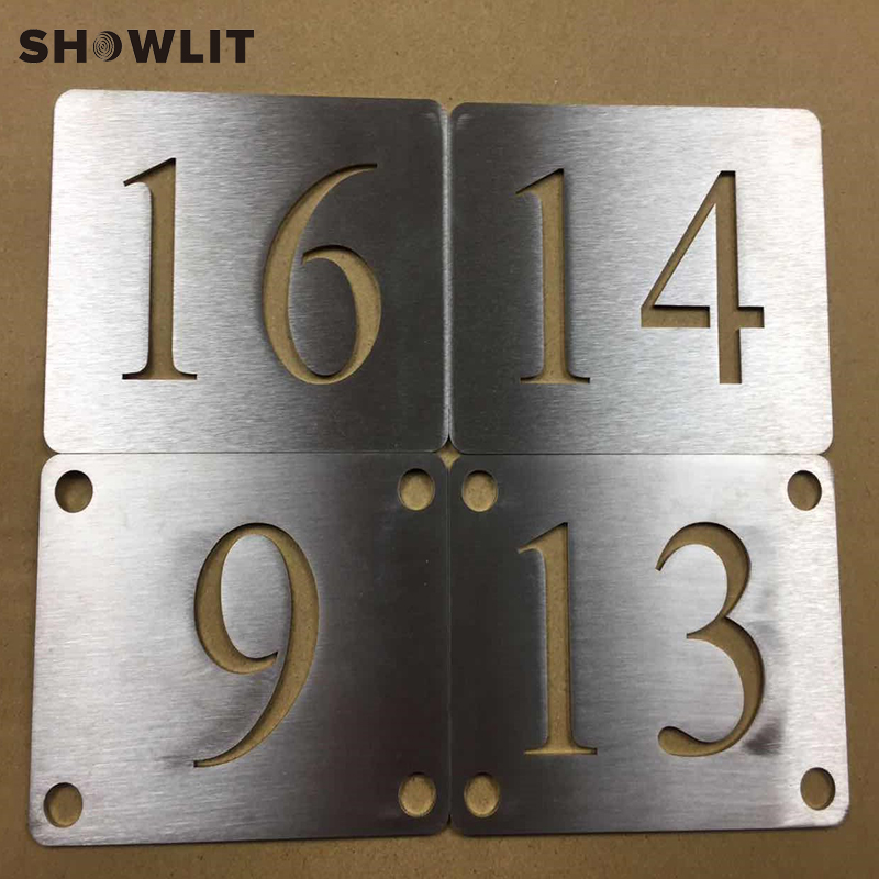 Precision Handcraft Brushed Stainless Steel House Plate Custom Made Available