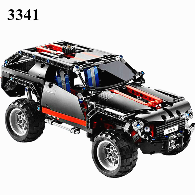 AIBOULLY  3341 Transport Cruiser SUV 589pcs Racing Car Model Building Block Sets Educational DIY Bricks Toys DIY Free Shipping