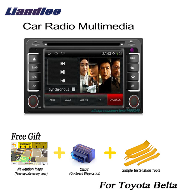 Liandlee Car Android Gps Navi For Toyota Belta 20052013 Navigation - Toyota-map-updates-us