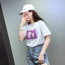 303a473c9c DZ 2018 Harajuku camiseta de manga longa mulheres tops moda trabalho blusa  solta FJA8