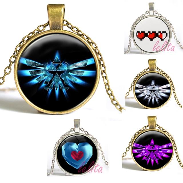Legend of zelda heart charm necklace legend of zelda pendant glass legend of zelda heart charm necklace legend of zelda pendant glass cabochon necklace for kids aloadofball Choice Image