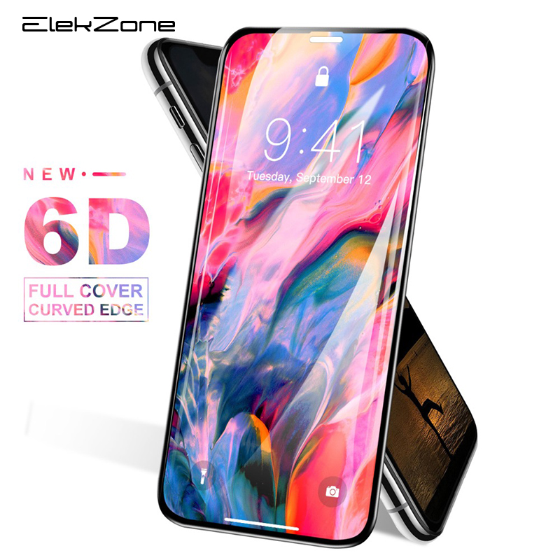 6D Full Cover Screen Film For iPhone XS MAX X XR Tempered Glass Protector