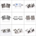 Free shipping high-quality laser retro charm Business Men Square Cufflinks particularly wild-type gentleman groom wedding gift