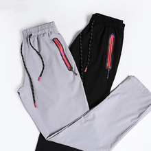 Men long outdoor Summer quick dry Pants breathable stretch slim sport lovers women hiking Drawstring Casual thin Trousers 267