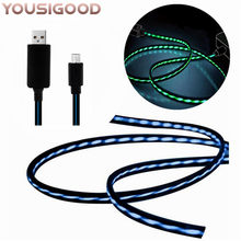 Chase LED Flowing Light Sync Data Charging Cable Type C for iPhone 5/6/6Plus 7 Android Xiaomi Huawei Samsung Micro USBC Fashion(China)