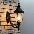 Американский креативный Ретро Уличный настенный светильник для двора  балкона  современный простой светодиодный Железный водонепроницаем...