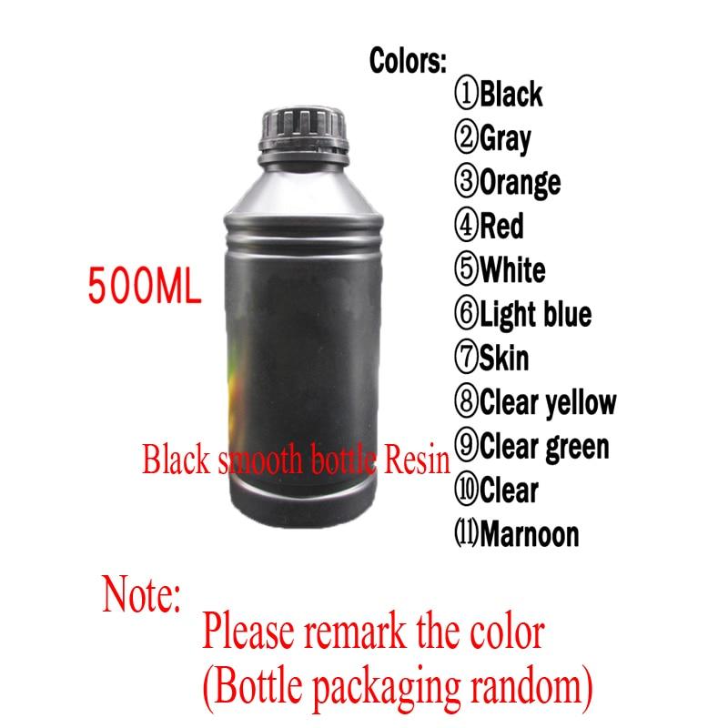 Tianfour sparkmaker 405nm UV Photosensitive Resin for SLA DLP LCD 3D  Printer UV 500 ml Liquid Printing Material Bottle Random