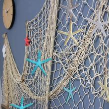 OurWarm Under the Sea Party Supplies Fishing Net with Cute Mermaid Marine Life Hanging Decoration for Kids