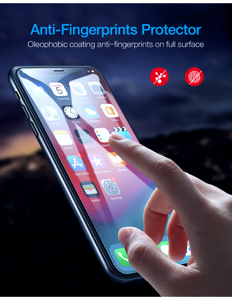 6D Tempered Glass Screen Protector Front Film For iPhone X XS Max XR (Buy 2  Get 15% Off)