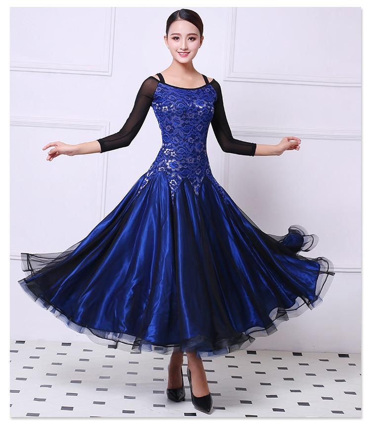 Ballroom Dance Dress Competition Costumes Dresses Standard Dance Dress For Women PerformanceDancewears S M L XL