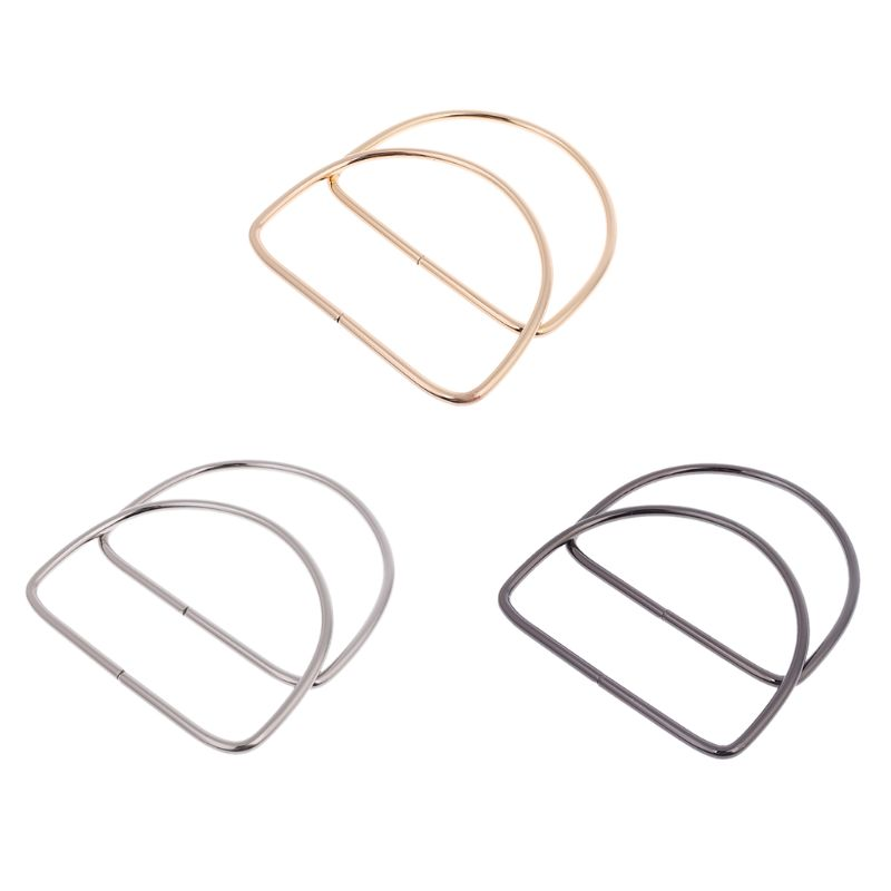 New 1 Pair Metal Bag Handle Handbag Purse Replacement Handles DIY Craft Making Bag Accessories 3 Colors