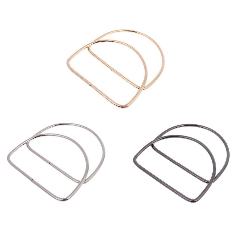 New 1 Pair Metal Bag Handle Handbag Purse Replacement Handles DIY Craft Making Bag Accessories 3 Colors